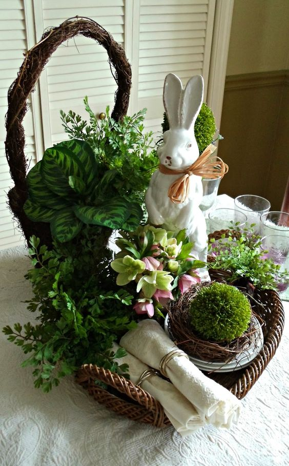 decoratiuni pentru masa de Paste Table Easter decorations 7