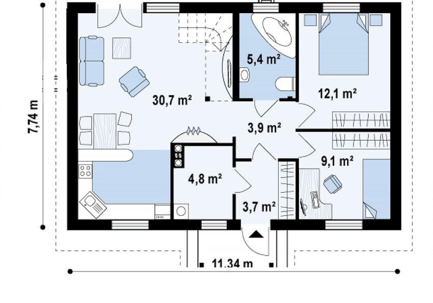 proiecte de case de 70 de metri patrati 70 square meter house plans 8