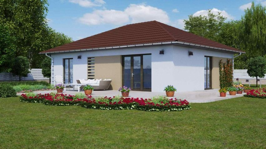 Case cu parter si doua dormitoare Two bedroom house plans 2