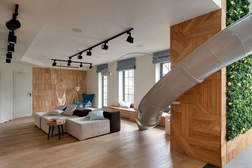 The giant slide apartment