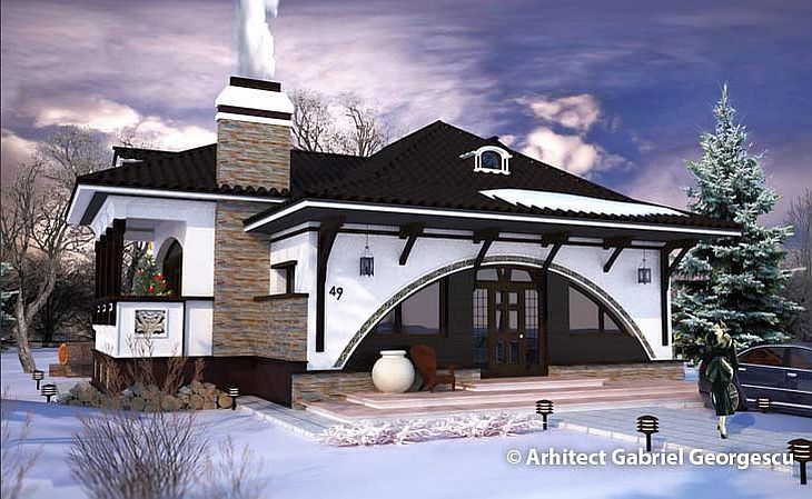 Romanian architecture at its best neo romanian style inspired houses houz buzz - Neo romanian architecture traditional and functional house plans ...
