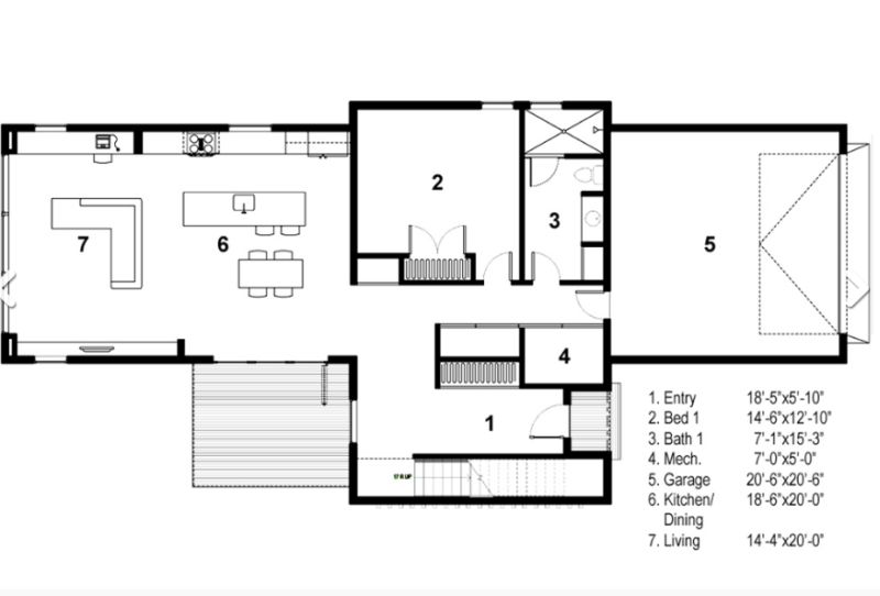 case in forma de T T shaped house plans 3