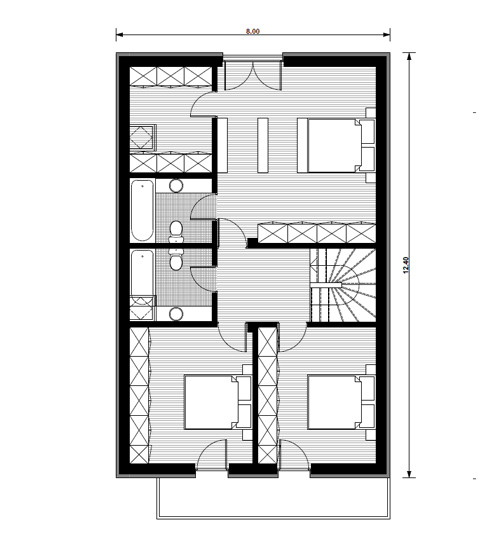 case mici cu garaj si mansarda Small houses with attic and garage 7