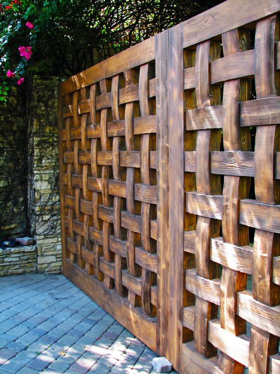 garduri decorative din lemn decorative wooden fences 10