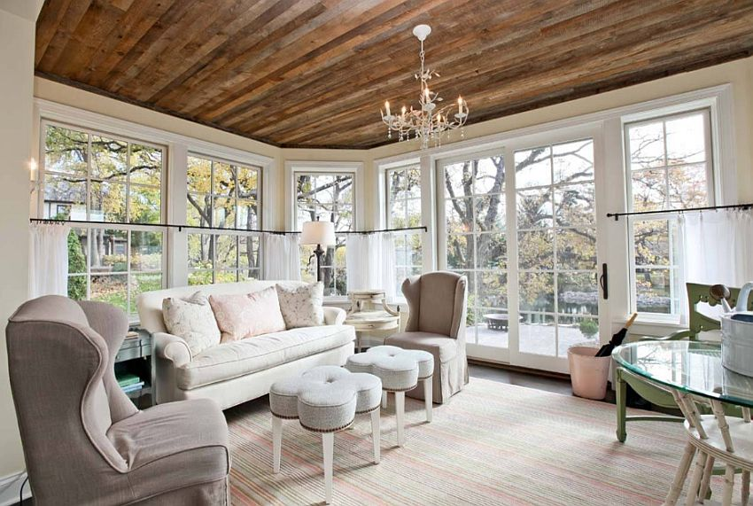 Wood Ceiling Living Rooms 15 Refined Design Ideas Houz Buzz