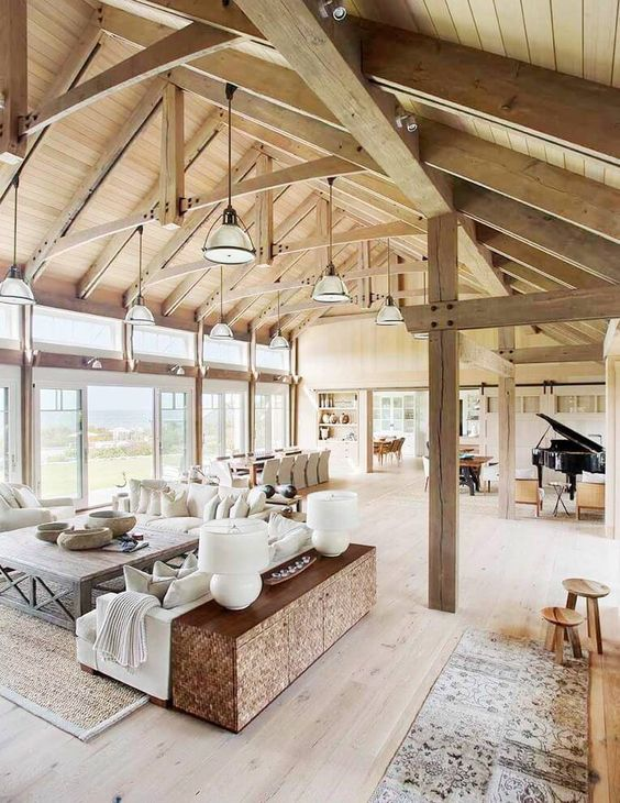 livinguri cu tavan din lemn wood ceiling living rooms 9