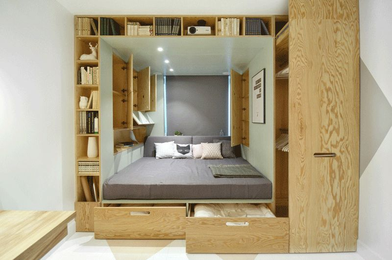 8 smart beds for small rooms houz buzz - Furniture for small bedrooms keep space under control ...