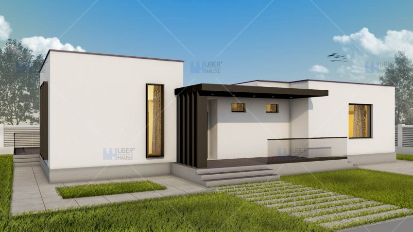 proiecte de case fara etaj cu 2 dormitoare Two bedroom single story house plans 2