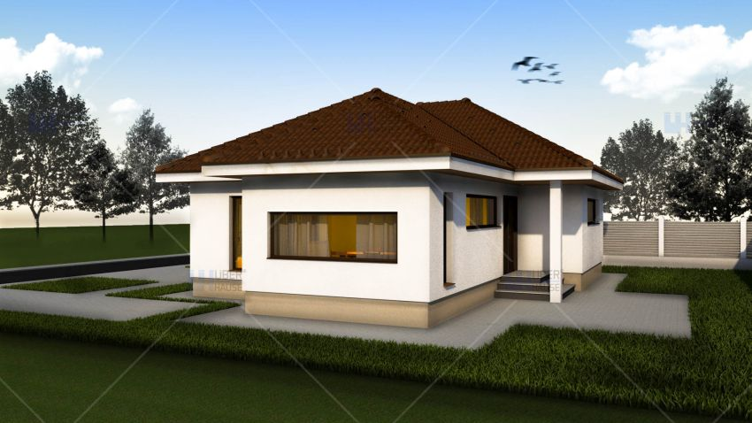proiecte de case mici pe un singur nivel Small single level house plans 5