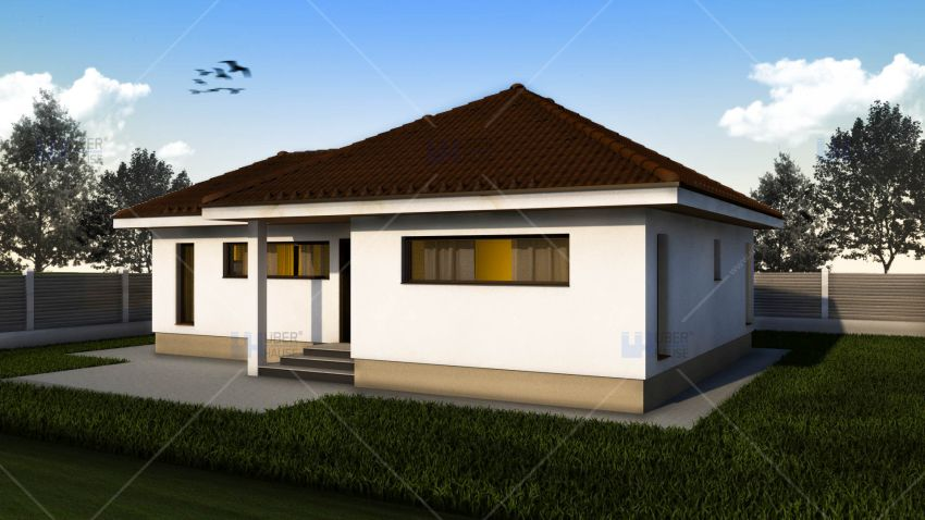 proiecte de case mici pe un singur nivel Small single level house plans 6