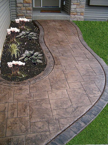 Stamped concrete walkway ideas aesthetic addition to a - Stamped concrete walkway ideas ...