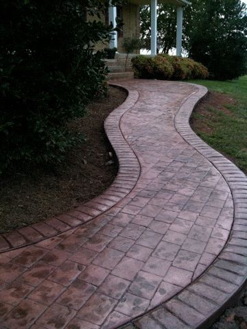 alei din beton amprentat stamped concrete walkway ideas 4