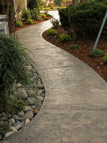 alei din beton amprentat stamped concrete walkway ideas 6