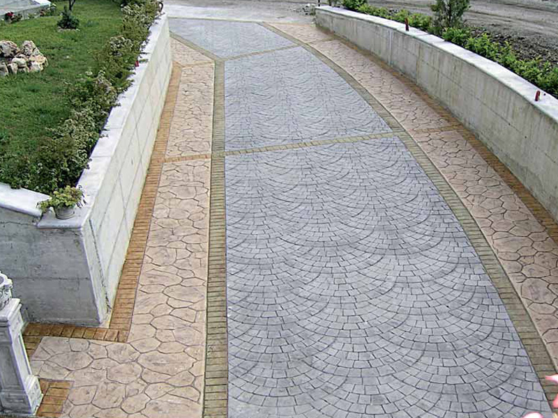 alei din beton amprentat stamped concrete walkway ideas 8