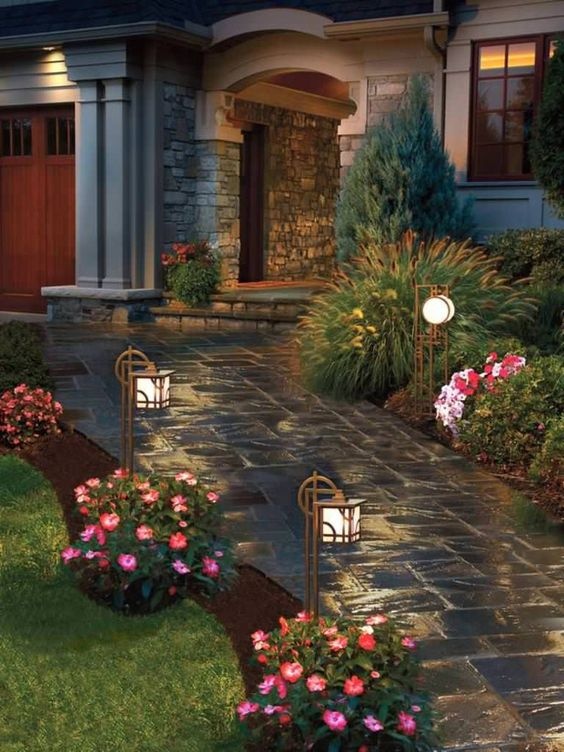 alei din beton amprentat stamped concrete walkway ideas 9