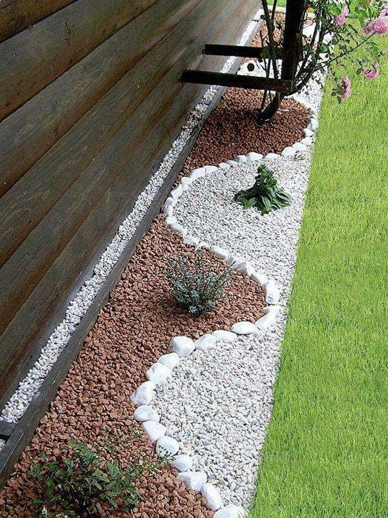 25 pebble garden decoration ideas houz buzz for Garden designs using pebbles