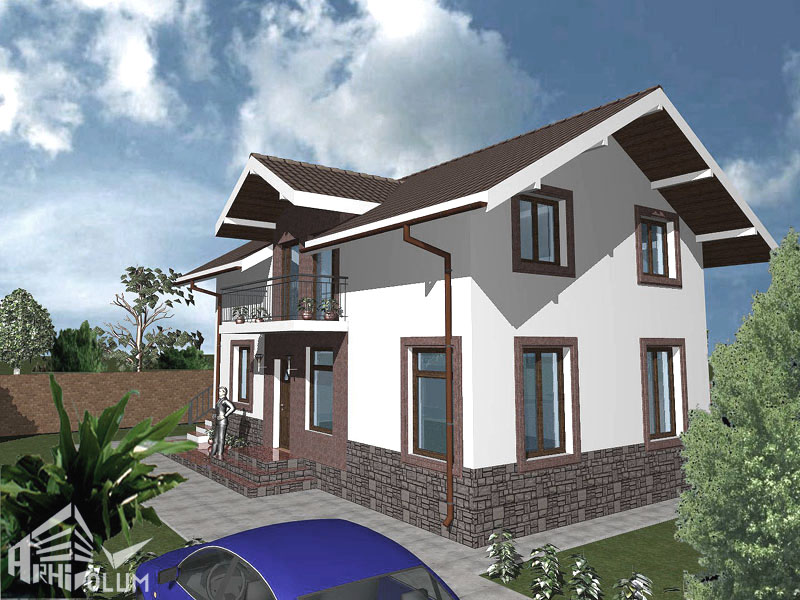 case cu mansarda si scara exterioara Attic houses with exterior stairs 3