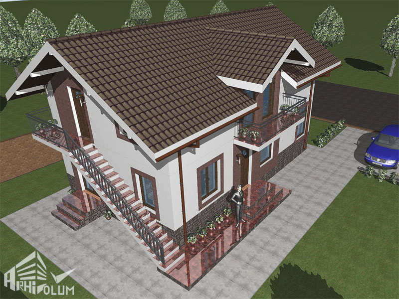 case cu mansarda si scara exterioara Attic houses with exterior stairs 4