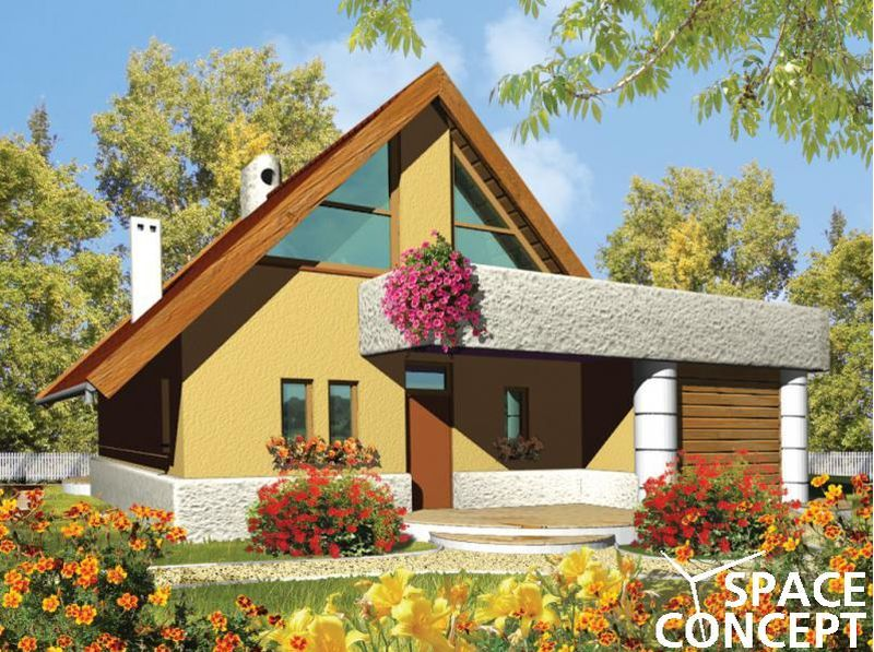 case cu mansarda si scara exterioara Attic houses with exterior stairs 8