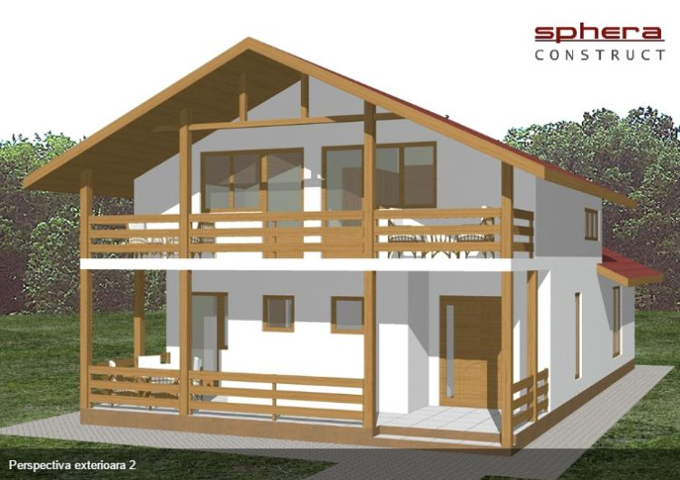 case cu terasa in spate Back patio house plans 11