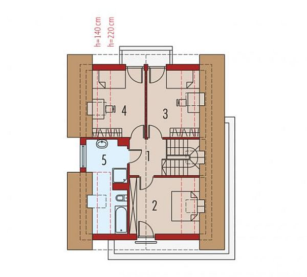 case cu terasa in spate Back patio house plans 9