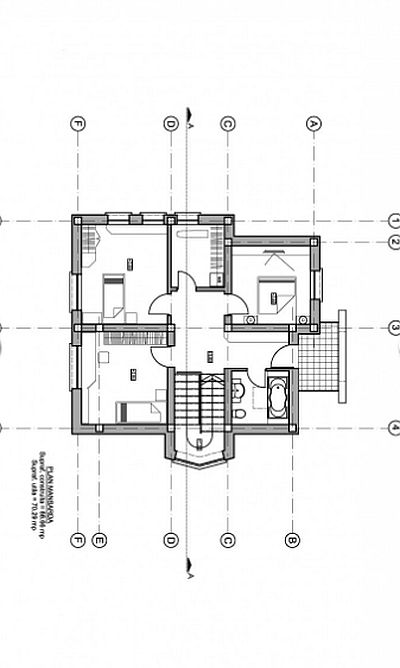 case medii cu mansarda Two story medium sized house plans 10