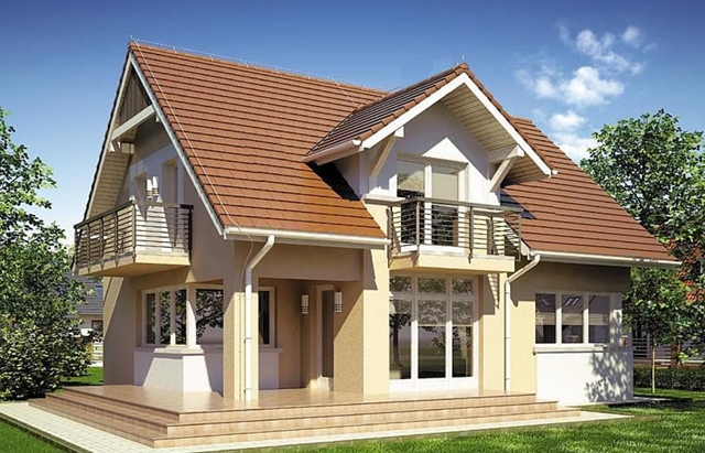 Two story medium sized house plans