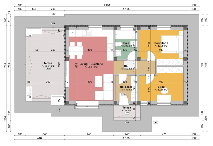 60 Square Meter House Plans on 4 bedroom floor plans