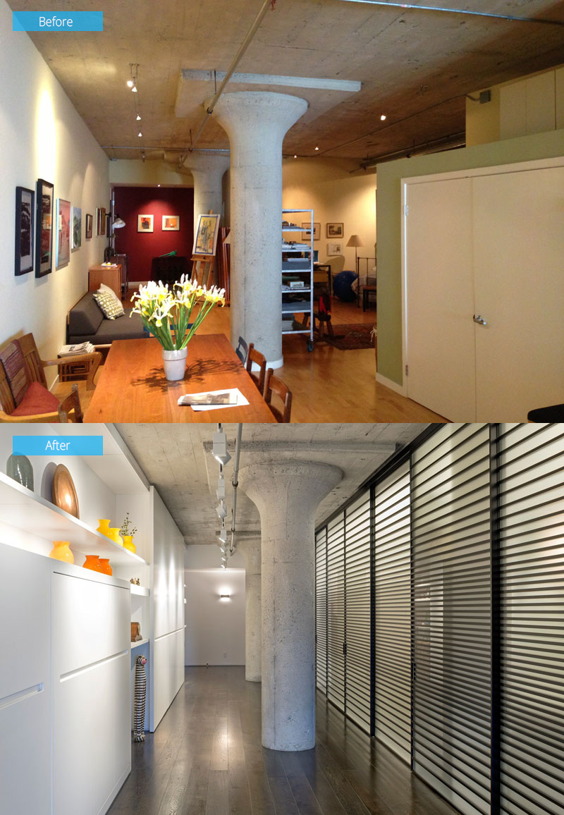 Before And After – The Amazing Makeover Of A Loft Apartment