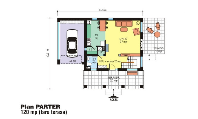modele de case cu open space open floor house plans 11