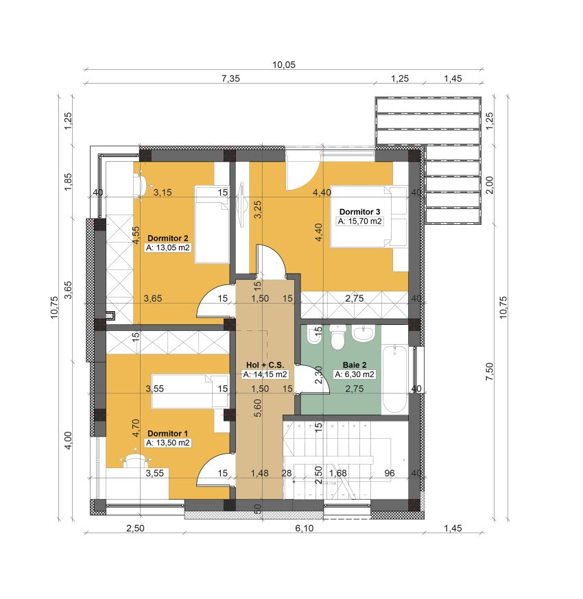 Two story houses under 150 square meters houz buzz for Case cu etaj