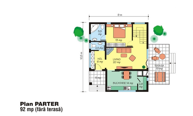 Proiecte de case cu etaj sub 150 de metri patrati case for 150 sq meter floor plan