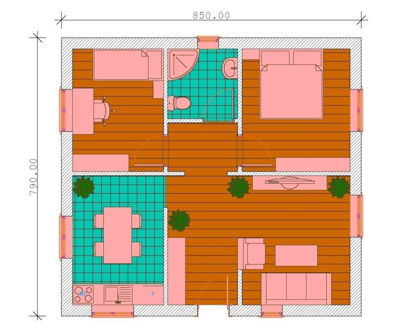 proiecte de case de 60-70 mp 60-70 square meter house plans 4
