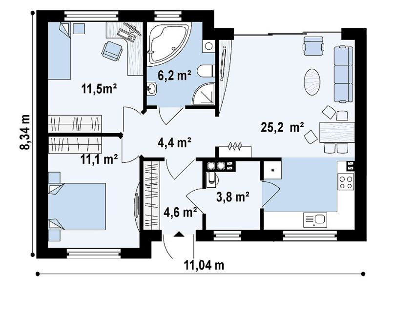 ... Proiecte De Case De 60 70 Mp 60 70 Square Meter House Plans 7