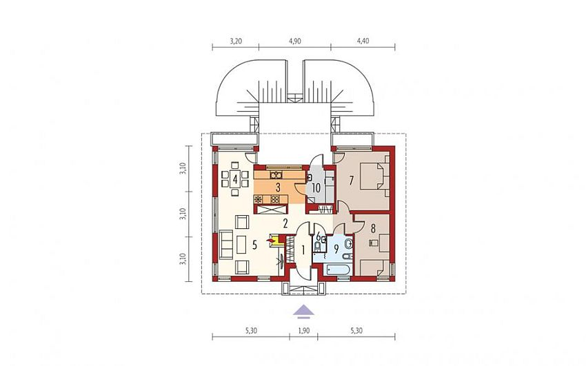 proiecte de case fara etaj cu 2 dormitoare Two bedroom single story house plans 12