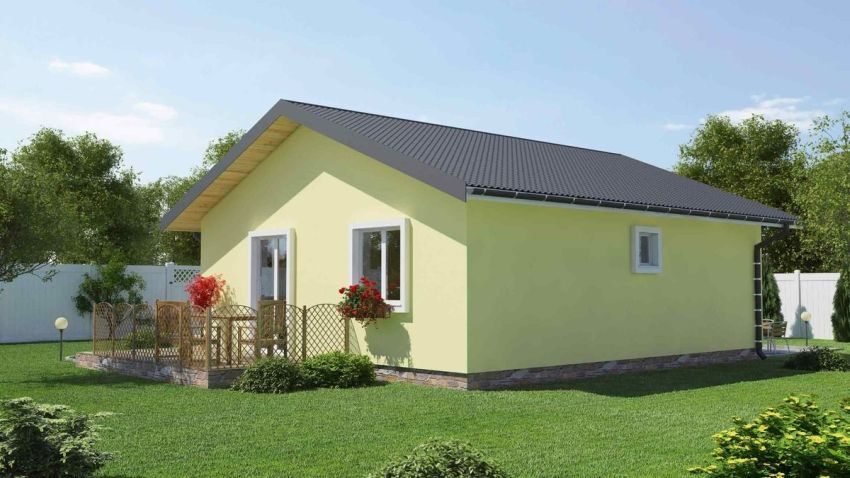 proiecte de case fara etaj cu 2 dormitoare Two bedroom single story house plans 3