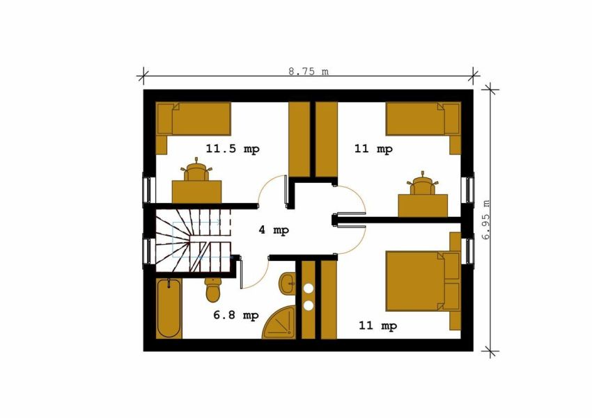 House plan square meters house plans for Home design 84 square metres