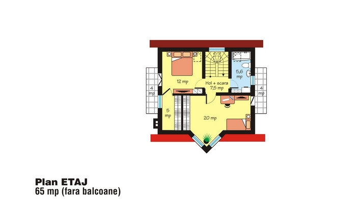 proiecte de case intre 100 si 160 de mp House plans under 160 square meters 4