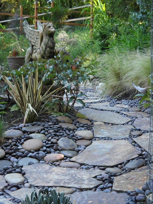 20 River Stone Paver Ideas - Refinement At Your Feet - Houz Buzz