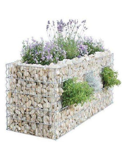 Amenajarea gradinii cu gabioane Gabion garden landscaping ideas 10