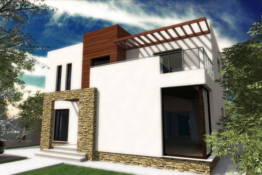 Case cu balcoane din sticla Houses with glass balconies 6