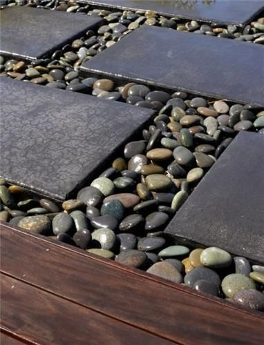 You Can Very Easily Use River Stones To Create A Transition Area From The  Paved Alley To The Green Space In The Garden. You Will Thus Get Different  Color ...