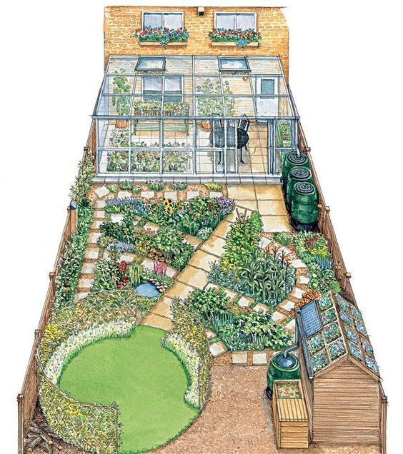 15 Small Backyard Designs Efficiently Using Small Spaces: House And Garden On 300 Square Meters