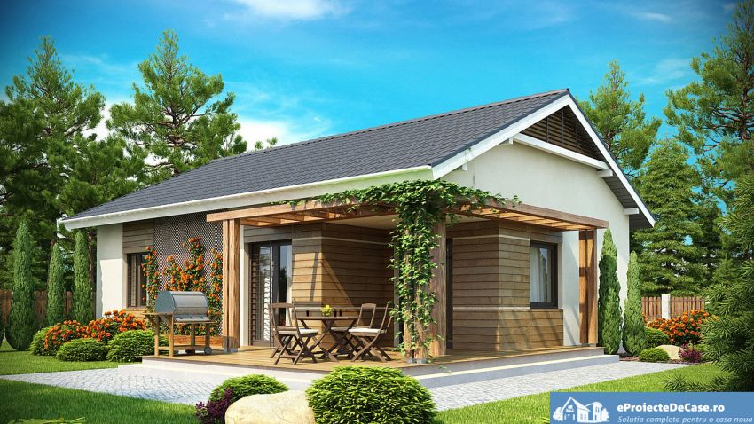 House and garden on 300 square meters
