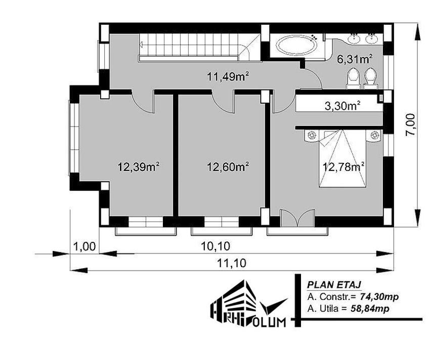 Two Story House Plans With Loft Bolukuk Us