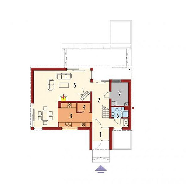 case medii pe doua nivele Medium sized two story house plans 16