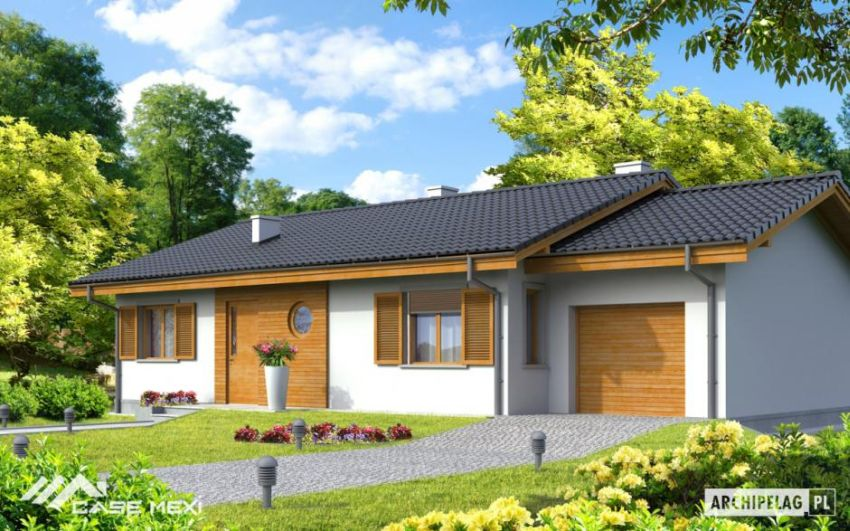 Small houses with built-in garage
