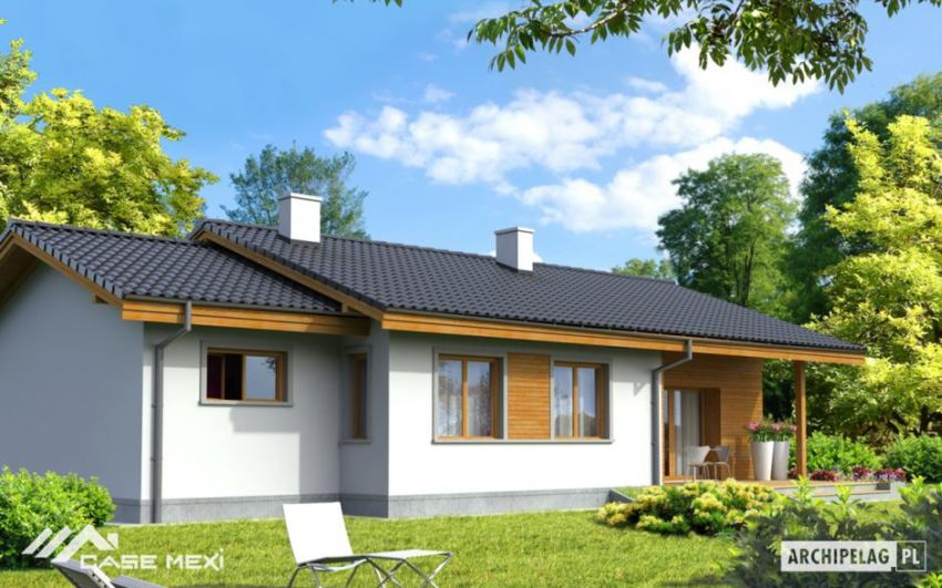 case mici, cu garaj integrat Small houses with built-in garage 11
