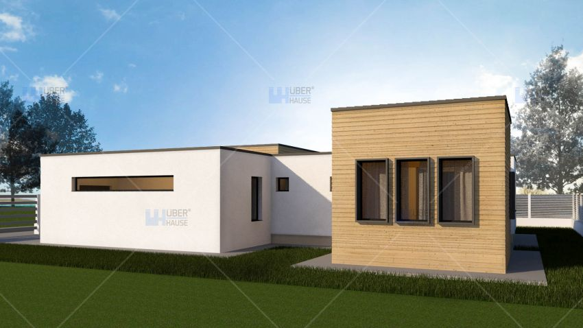 case mici, cu garaj integrat Small houses with built-in garage 2