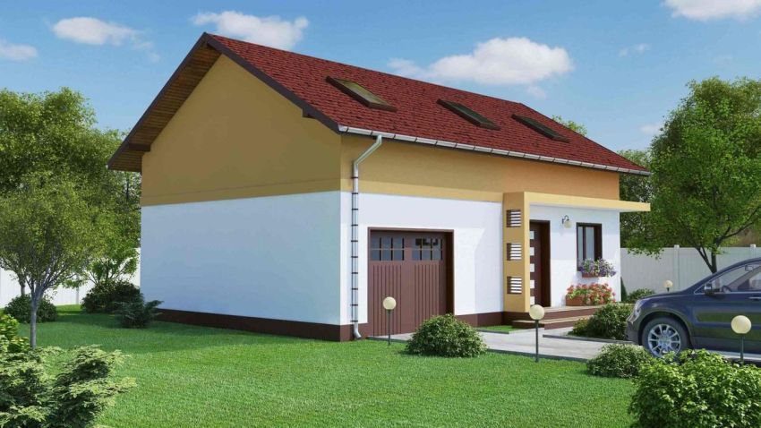 case mici, cu garaj integrat Small houses with built-in garage 6